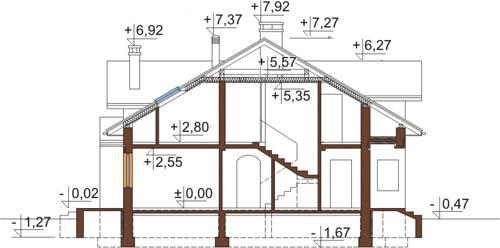 Projekt domu L-6371 - przekrój