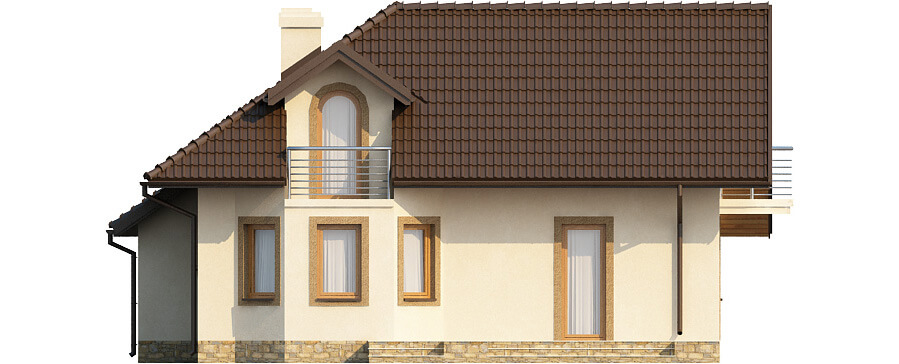 Projekt domu DM-6373 - elewacja