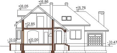 Projekt domu DM-6373 - przekrój