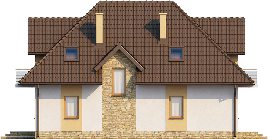Projekt domu DM-6363 - elewacja