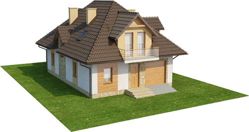 Projekt domu DM-6363 - model