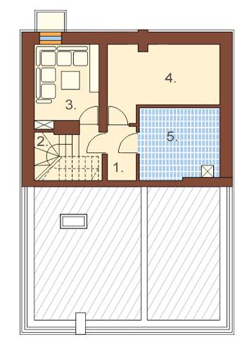 Projekt domu DM-6363 - rzut