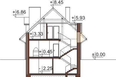Projekt domu DM-6363 - przekrój