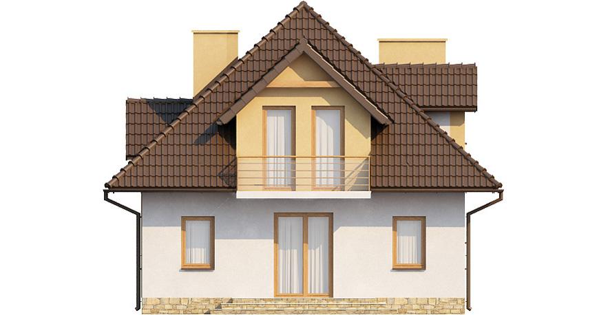 Projekt domu L-6363 - elewacja