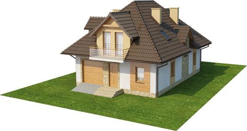 Projekt domu L-6363 - model
