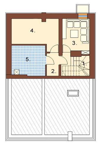 Projekt domu L-6363 - rzut