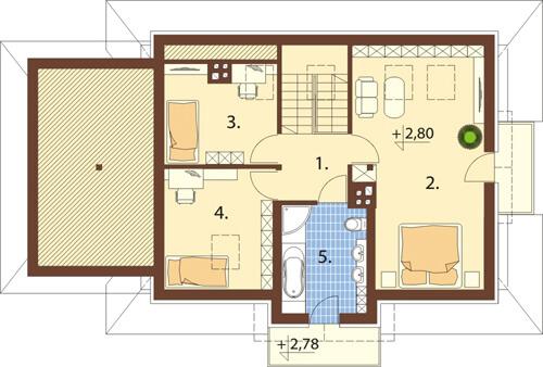 Projekt domu L-6346 - rzut