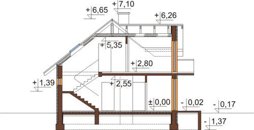 Projekt domu L-6346 - przekrój