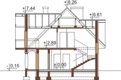 Projekt domu DM-6350 - przekrój