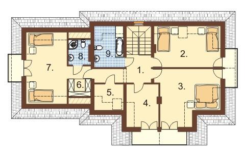 Projekt domu DM-6350 - rzut