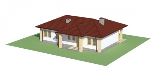 Projekt domu DM-6087 - model