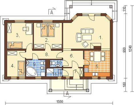 Projekt domu DM-6087 - rzut