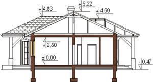 Projekt domu DM-6087 - przekrój