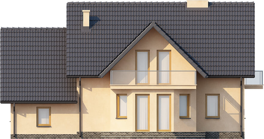Projekt domu DM-6357 - elewacja