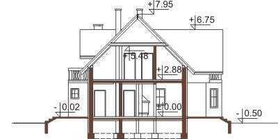 Projekt domu DM-6357 - przekrój