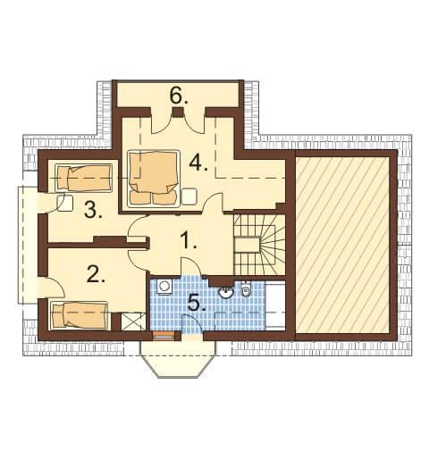 Projekt domu DM-6357 - rzut