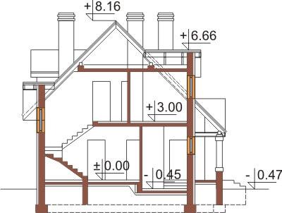 Projekt domu DM-6369 - przekrój