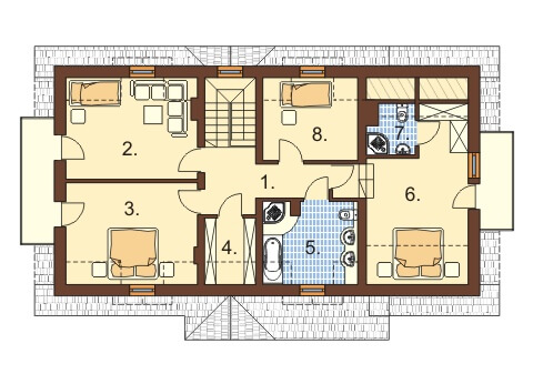 Projekt domu L-6369 - rzut