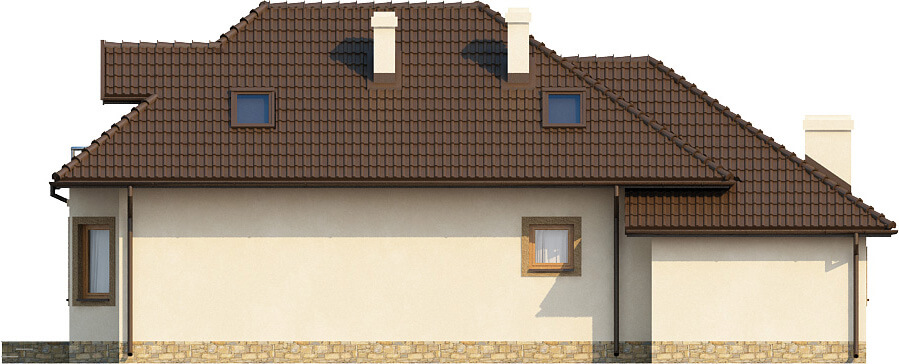 Projekt domu L-6373 - elewacja