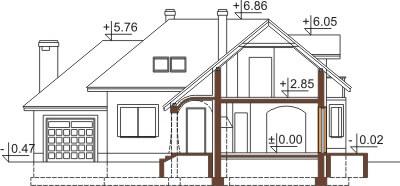 Projekt domu L-6373 - przekrój