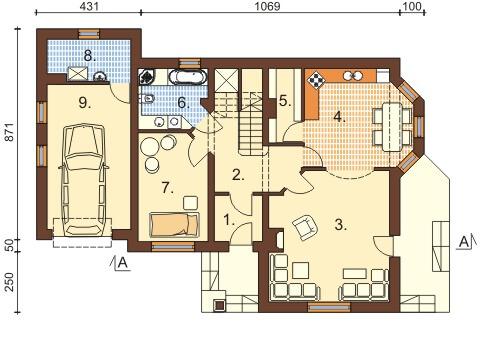 Projekt domu L-6373 - rzut