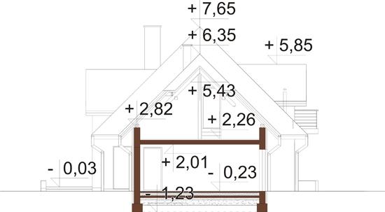 Projekt domu DM-6349 - przekrój