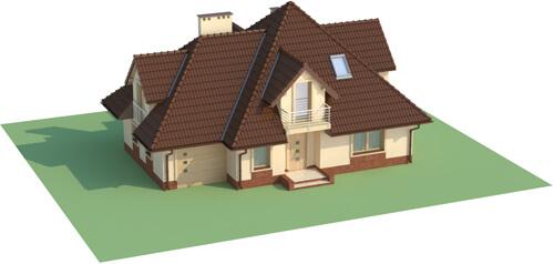 Projekt domu DM-6349 - model