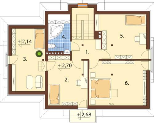 Projekt domu DM-6349 - rzut