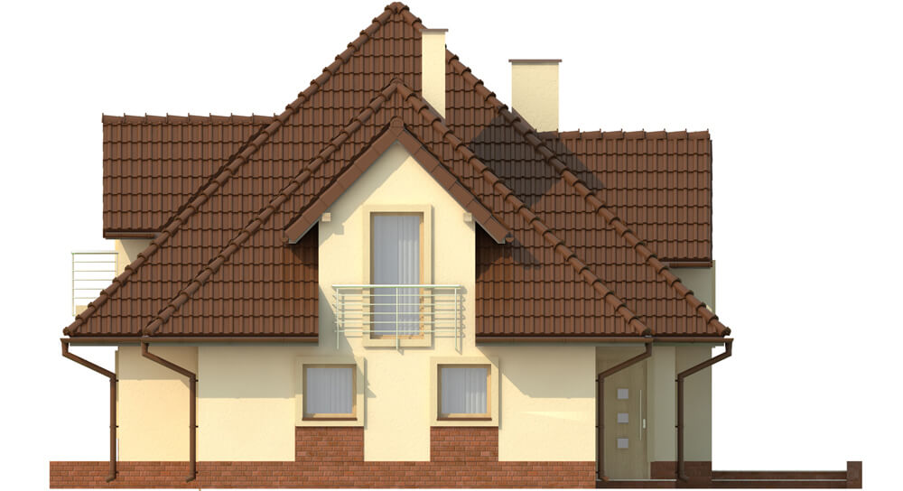 Projekt domu L-6349 - elewacja