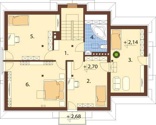 Projekt domu L-6349 - rzut