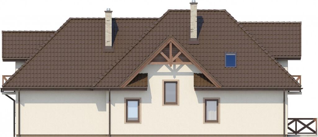 Projekt domu L-6350 - elewacja