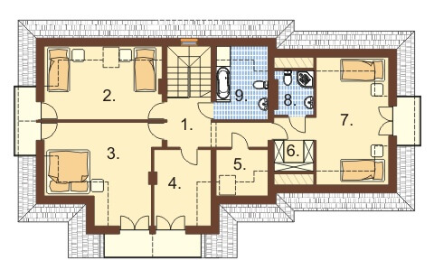 Projekt domu L-6350 - rzut