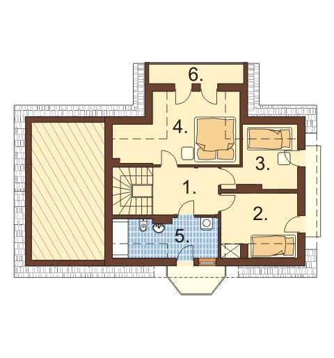 Projekt domu L-6357 - rzut