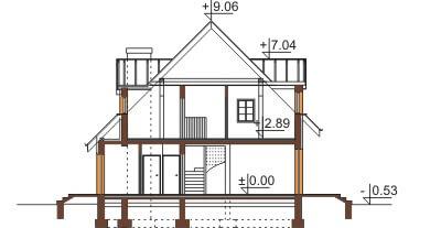 Projekt domu DM-6358 - przekrój