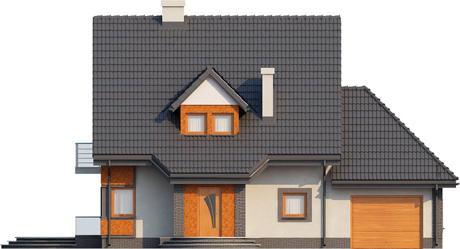 Projekt domu L-6358 - elewacja
