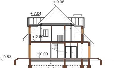 Projekt domu L-6358 - przekrój