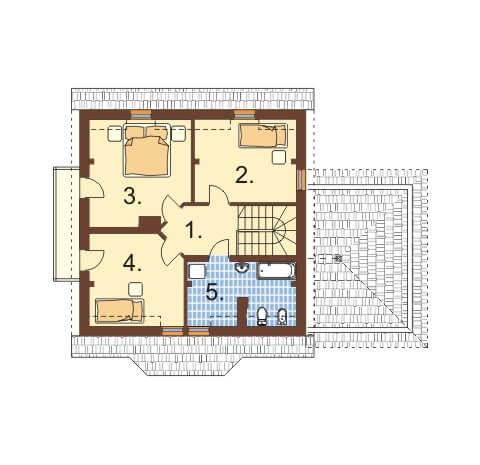 Projekt domu L-6358 - rzut