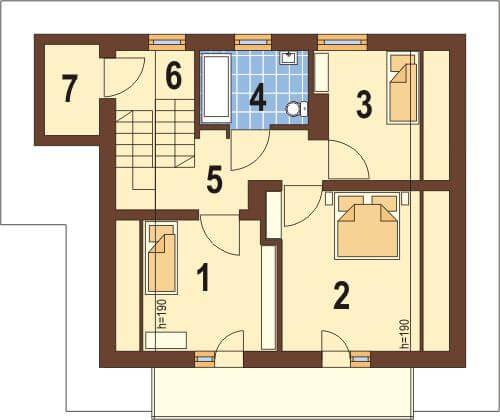 Projekt domu DM-6088 - rzut