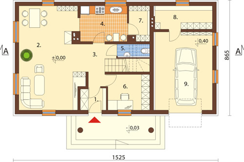 Projekt domu DM-6368 - rzut
