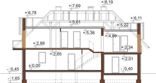 Projekt domu DM-6368 - przekrój