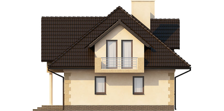 Projekt domu L-6368 - elewacja