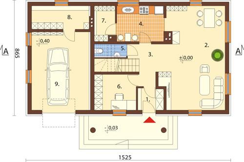 Projekt domu L-6368 - rzut