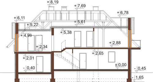 Projekt domu L-6368 - przekrój