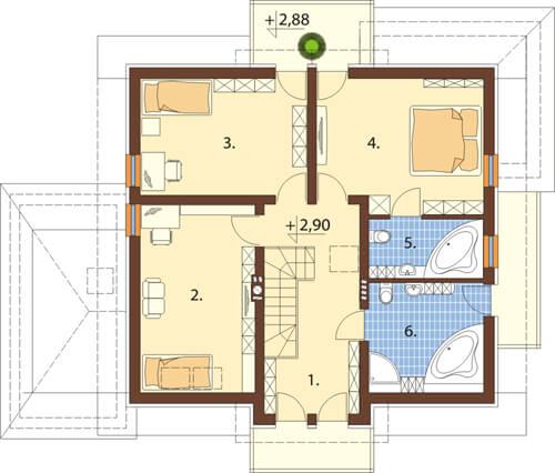 Projekt domu DM-6370 - rzut