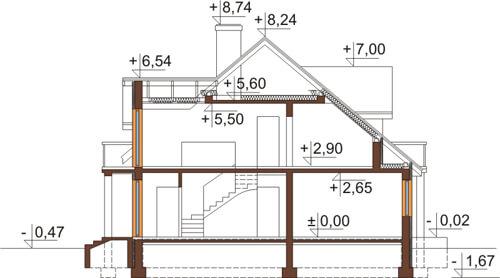 Projekt domu DM-6370 - przekrój