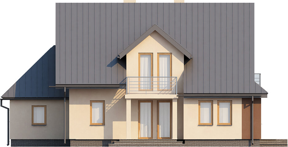 Projekt domu L-6370 - elewacja