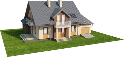 Projekt domu L-6370 - model