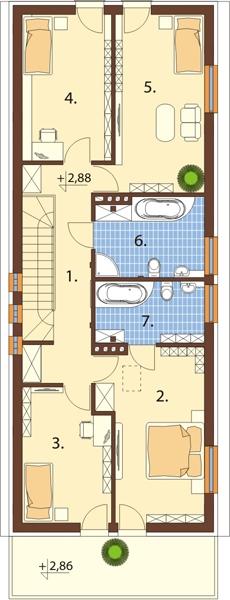 Projekt domu DM-6417 - rzut