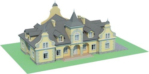Projekt domu RW-01 - model