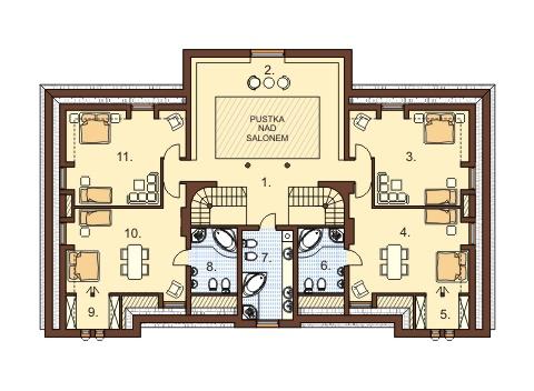 Projekt domu RW-01 - rzut